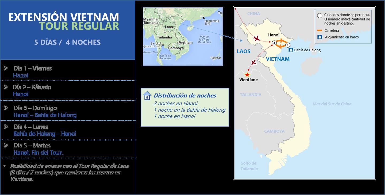 Extensión Vietnam Tour Regular 5d- 4n