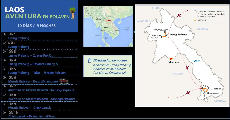 Laos Aventura en Bolaven 10d - 9n